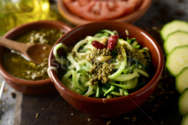 вегетарианский цуккини спагетти соус Сток-фото © nito
