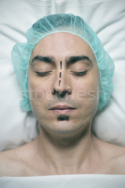 man about to have a rhinoplasty Stock photo © nito