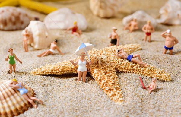Miniatura pessoas maiô praia diferente Foto stock © nito