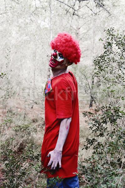 Effrayant mal clown bois Photo stock © nito