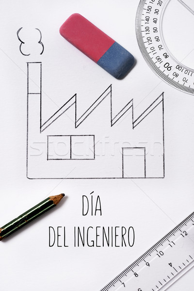 text 'engineers day' in spanish Stock photo © nito