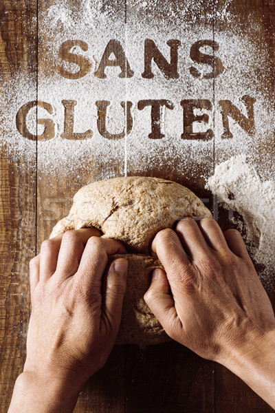 text gluten free written in french Stock photo © nito