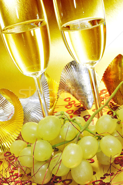 spanish cava and the grapes of luck Stock photo © nito