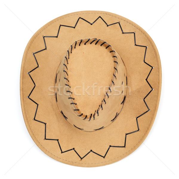 ковбойской шляпе белый фон знак кожа Cowboy Сток-фото © nito