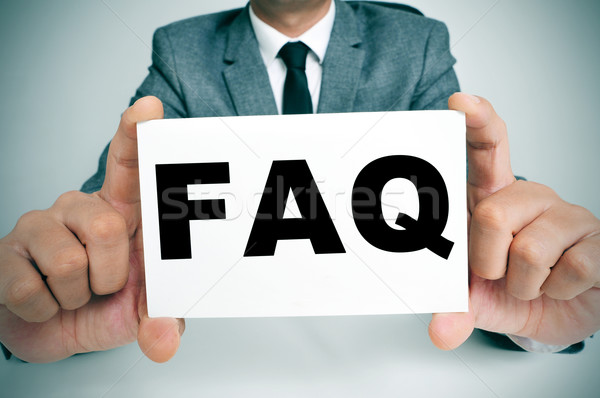 FAQ, Frequently Asked Questions Stock photo © nito