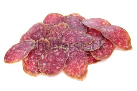 Stock photo: spanish salchichon
