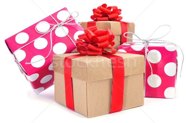 gift boxes of different colors Stock photo © nito