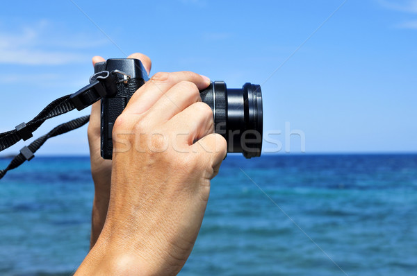 Moço quadro mar jovem Foto stock © nito