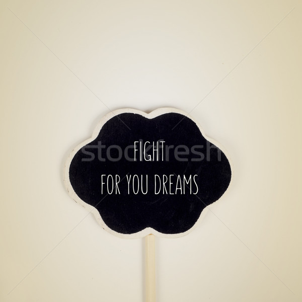 text fight for your dreams written in a thought bubble Stock photo © nito