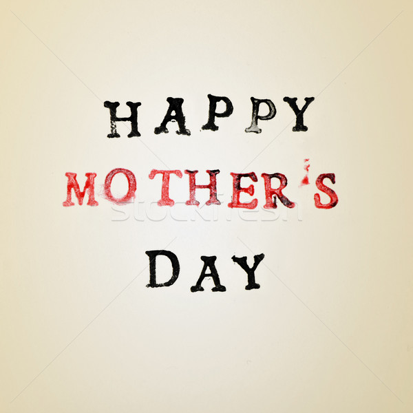 text happy mothers day Stock photo © nito