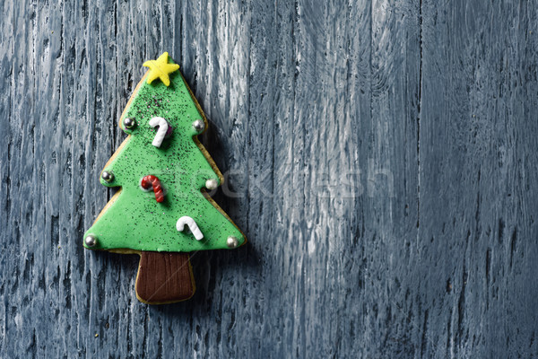 christmas cookie in the shape of a christmas tree Stock photo © nito