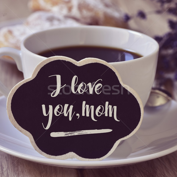 breakfast and text I love you mom Stock photo © nito
