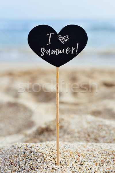 signboard with the text I love summer Stock photo © nito