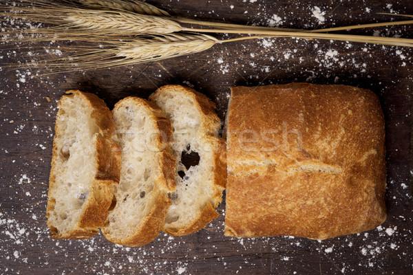Brot charakteristisch Spanien erschossen Scheiben rustikal Stock foto © nito