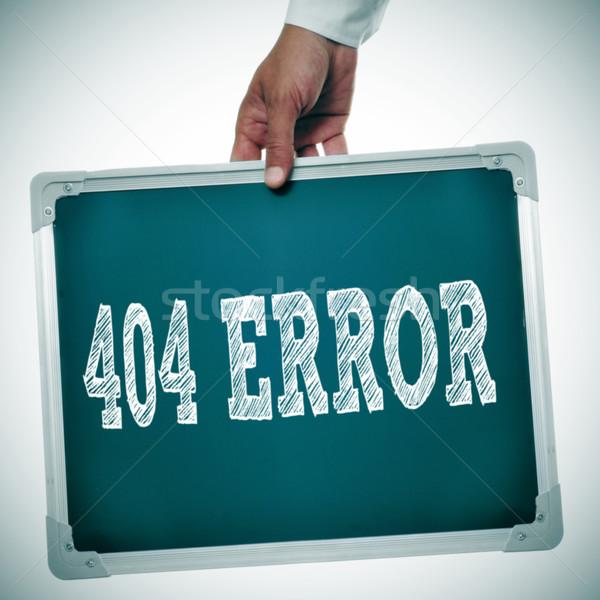404 hiba kéz tart tábla üzenet Stock fotó © nito