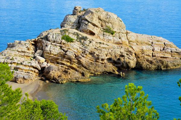引き裂か ビーチ スペイン 表示 古い ストックフォト © nito