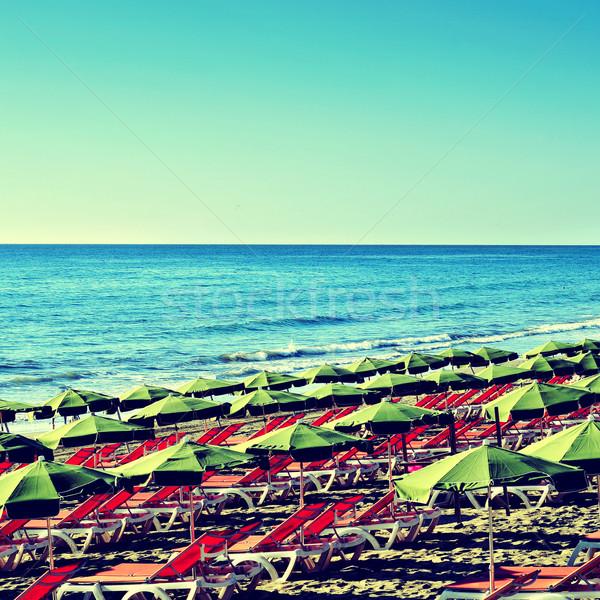 Playa del Ingles beach in Maspalomas, Gran Canaria, Spain Stock photo © nito