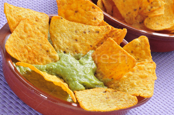 Nachos alimentaire restaurant manger Photo stock © nito