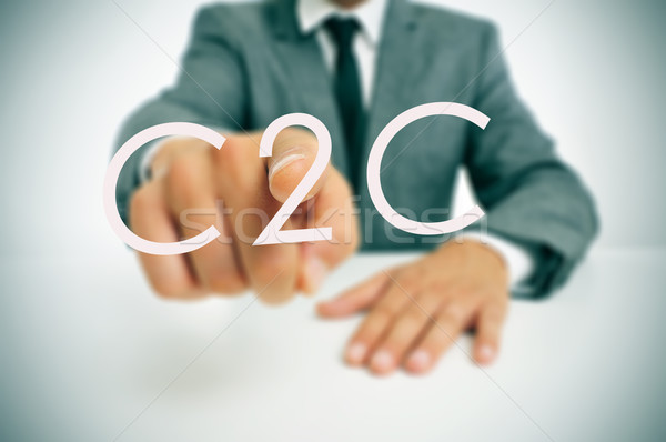 Stock photo: C2C, consumer-to-consumer