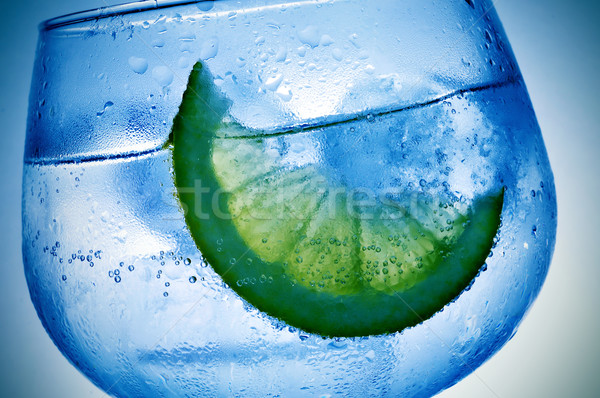 Gin közelkép üveg jég éjszaka klub Stock fotó © nito