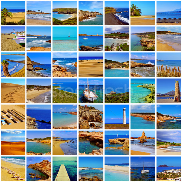 spanish beaches collage Stock photo © nito