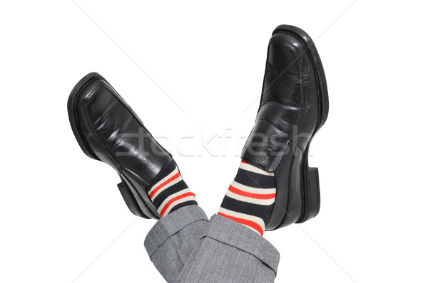 relaxed businessman crossing his feet Stock photo © nito