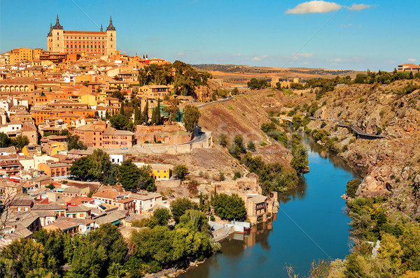 panoramic view of Toledo, Spain, and the Tagus river Stock photo © nito