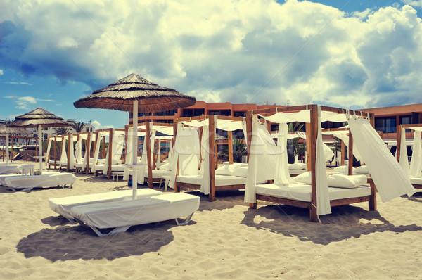 ビーチ クラブ スペイン 詳細 白砂 海 ストックフォト © nito
