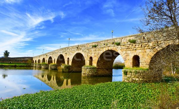 Ponte Spagna view antica romana fiume Foto d'archivio © nito