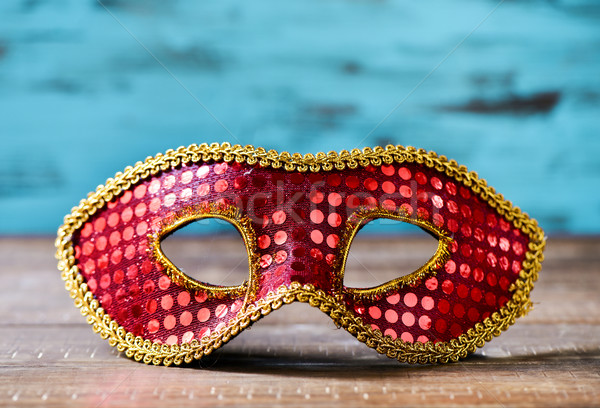 red and golden carnival mask Stock photo © nito
