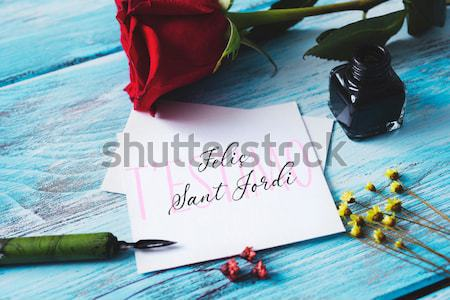text I love you moms written in a note Stock photo © nito