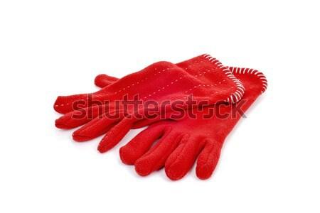 red fleece gloves Stock photo © nito