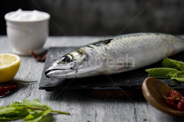 raw fresh mackerel Stock photo © nito