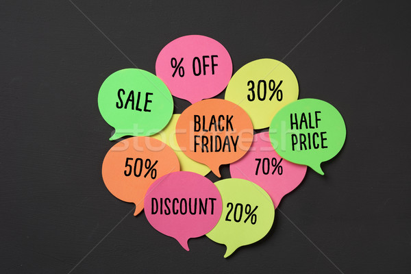 Black friday diferente percentagens texto laranja Foto stock © nito