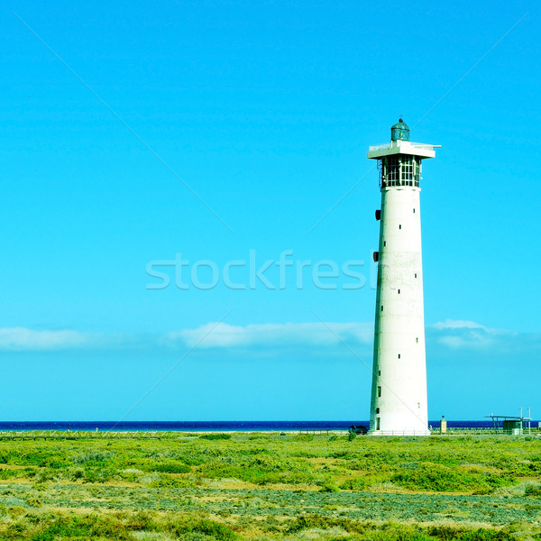 Beacon of Morro Jable in Fuerteventura, Canary Islands, Spain Stock photo © nito