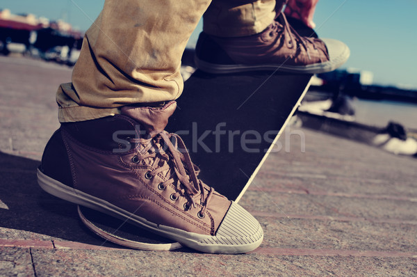 молодым человеком трюк Skate стороны Сток-фото © nito