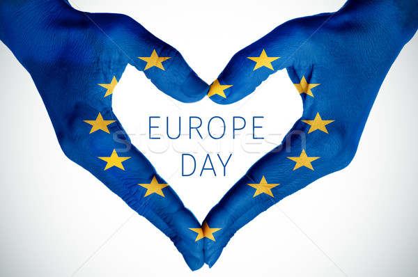 中心 文字 ヨーロッパ 日 クローズアップ 手 ストックフォト © nito