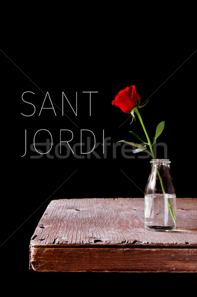 text Sant Jordi, Catalan name for Saint George Day Stock photo © nito