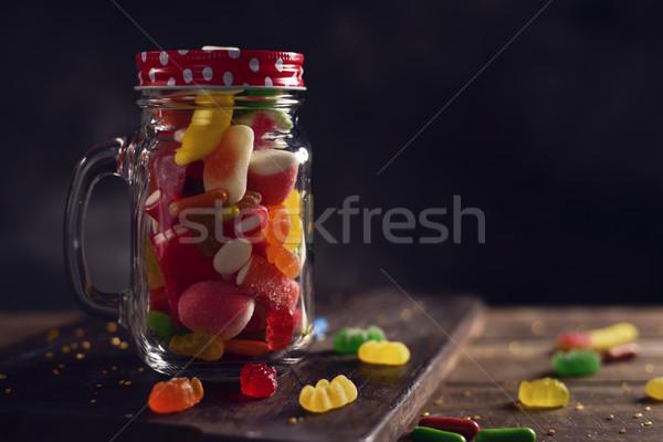 Albañil jar completo diferente sabores Foto stock © nito