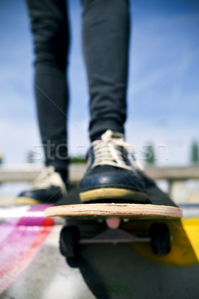 Jeune homme skateboard jeunes homme Photo stock © nito