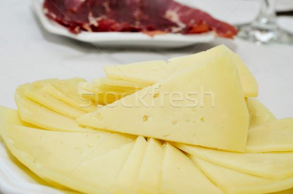 испанский сыра Тапас пластина набор Сток-фото © nito