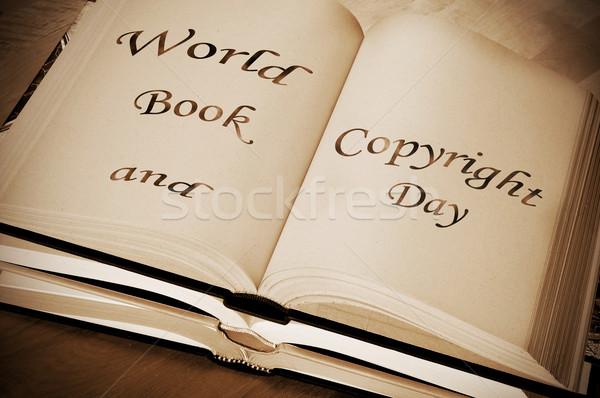 Világ könyv szerzői jog nap év írott Stock fotó © nito