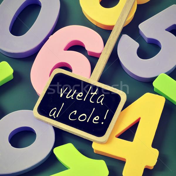 vuelta al cole, back to school in spanish Stock photo © nito