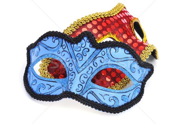 Karnawałowe maski elegancki biały strony tle Zdjęcia stock © nito