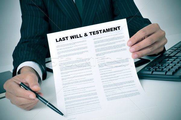 last will and testament Stock photo © nito