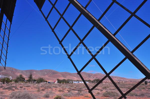 windmill in Antigua, Fuerteventura, Canary Islands, Spain Stock photo © nito