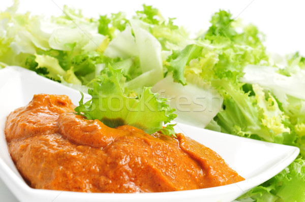 Salsa típico ensalada alimentos restaurante comer Foto stock © nito