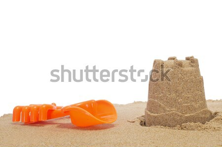 двухуровневый стробирующий импульс игрушку лопатой песок белый детей Сток-фото © nito