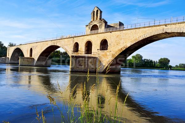 Pont Saint-Benezet bridge in Avignon, France Stock photo © nito