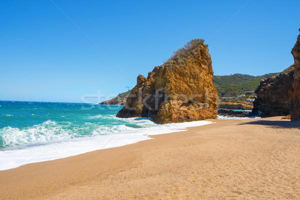 Cala Illa Roja beach in the Costa Brava, in Catalonia, Spain Stock photo © nito